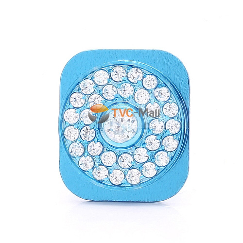 Blue iphone 5 rhinestone home button