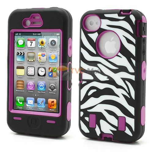 Iphone 4s zebra combo case