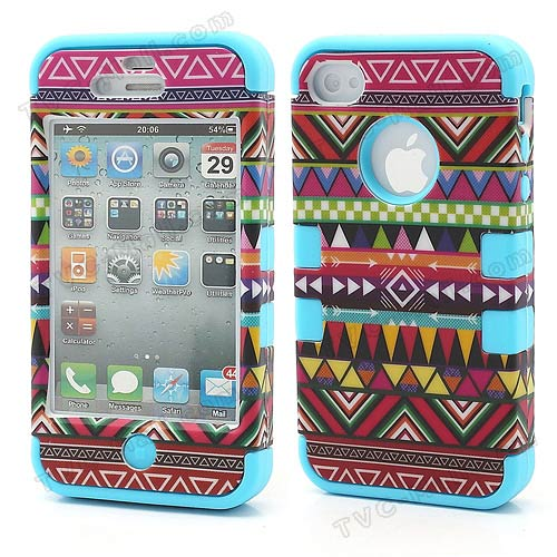 Iphone 4s tribal stripe combo case