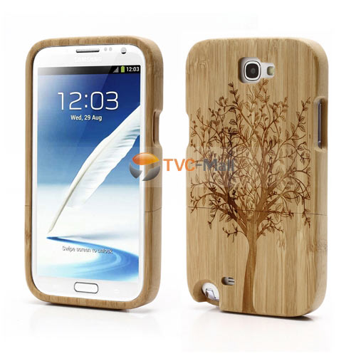 Galaxy note 2 bamboo case