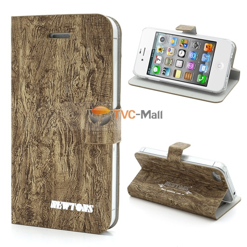 Iphone 4s leather caswe with wood grain
