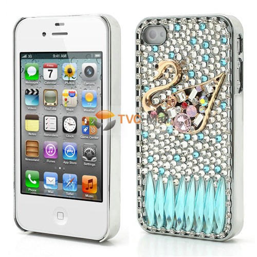 Iphone 4s deluxe diamond swan case
