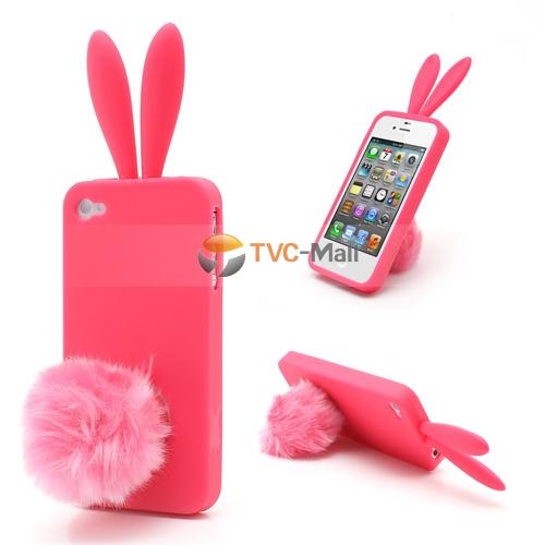 Cute rabbit ears iphone 4s case