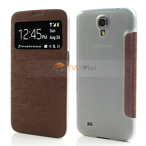 Galaxy mega 6.3 s view leather cover