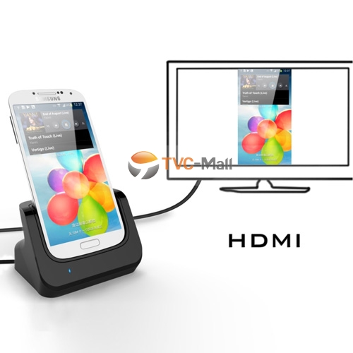 Galaxy s4 HDMI output cradle charger