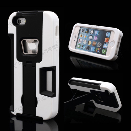 iphone 5 hybrid stand case also a beer bottle opener and a card slot cellphone accessories. Black Bedroom Furniture Sets. Home Design Ideas