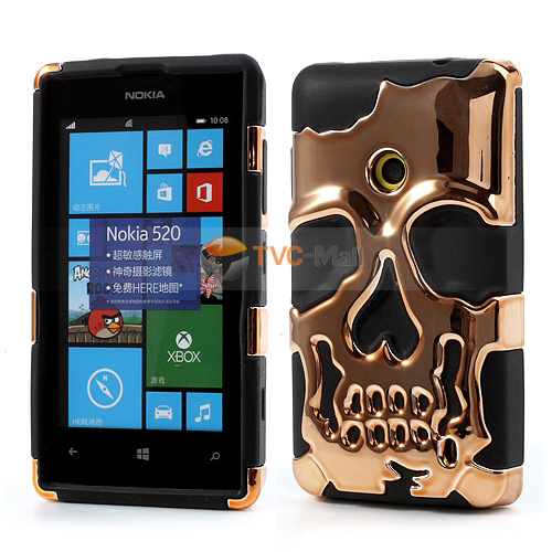 Nokia lumia 520 skull design case