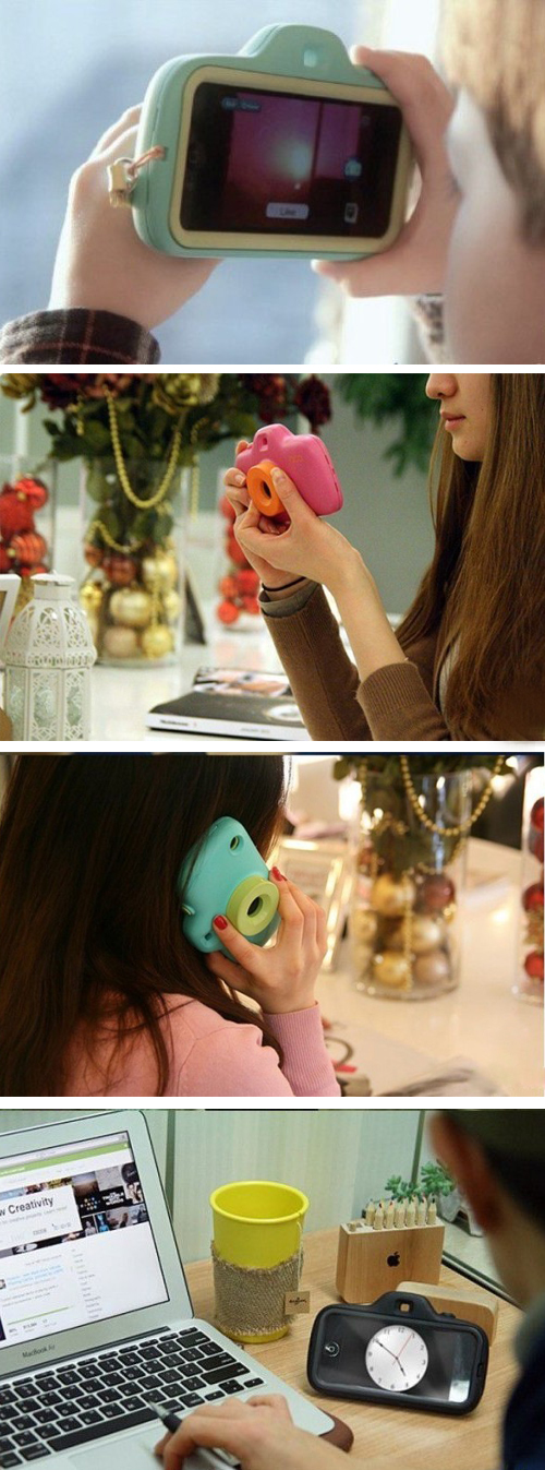 Cute iphone 5 filter camera lens case