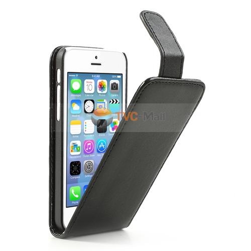 Iphone 5c classic flip leather case