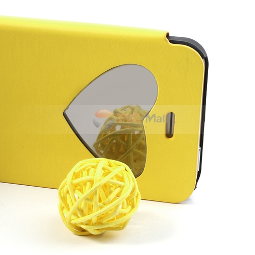 Iphone 5 mirror leather case